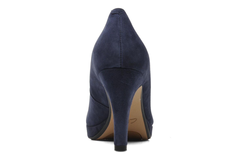 Zapatos de tacón Clarks Crisp Kendra Azul vista lateral derecha