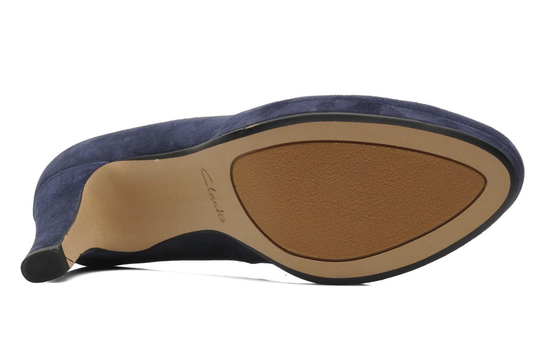 Zapatos de tacón Clarks Crisp Kendra Azul vista de arriba