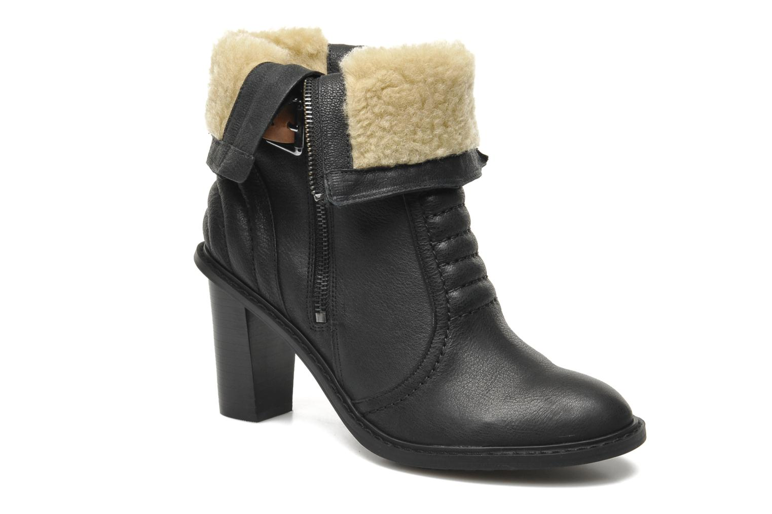 Bottines et boots Clarks Lisette Blues Noir vue 3/4