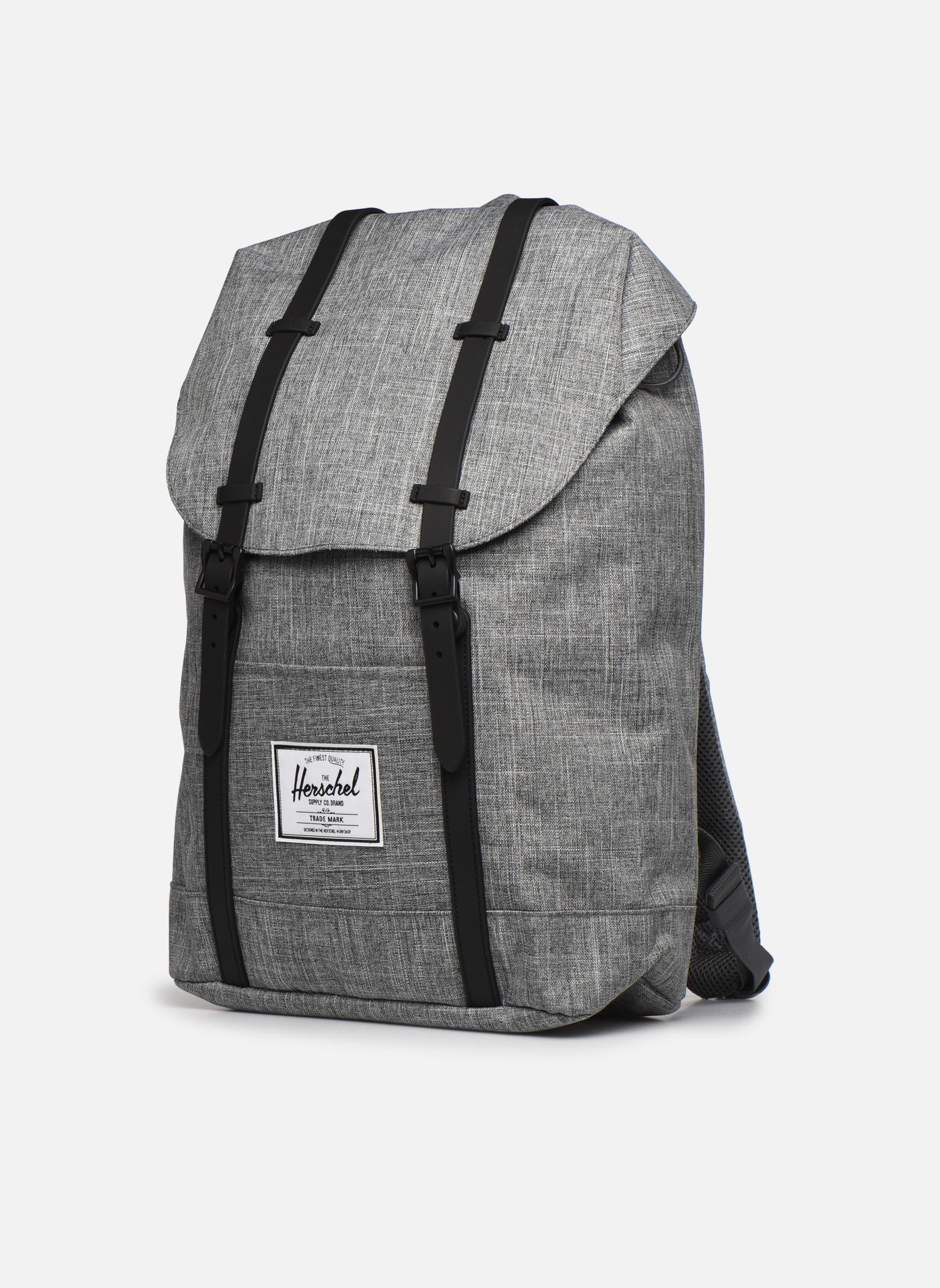 Rucksäcke Herschel Retreat grau schuhe getragen