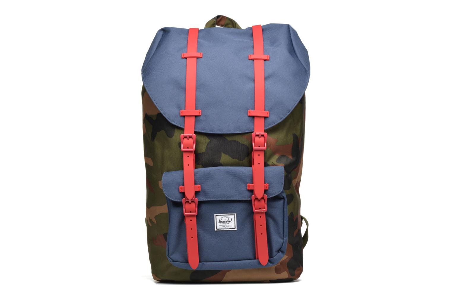 Little America Woodland camo/navy/red rubber