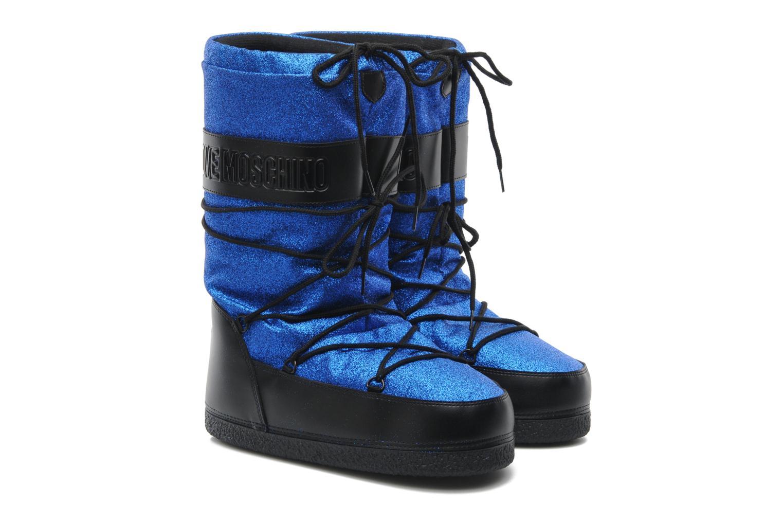 Bottines et boots Love Moschino Love boot Bleu vue 3/4