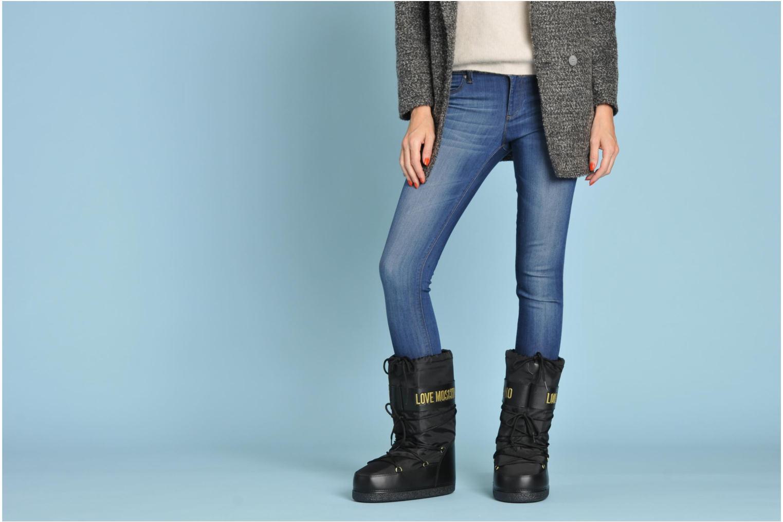 Bottines et boots Love Moschino Love boot Bleu vue bas / vue portée sac
