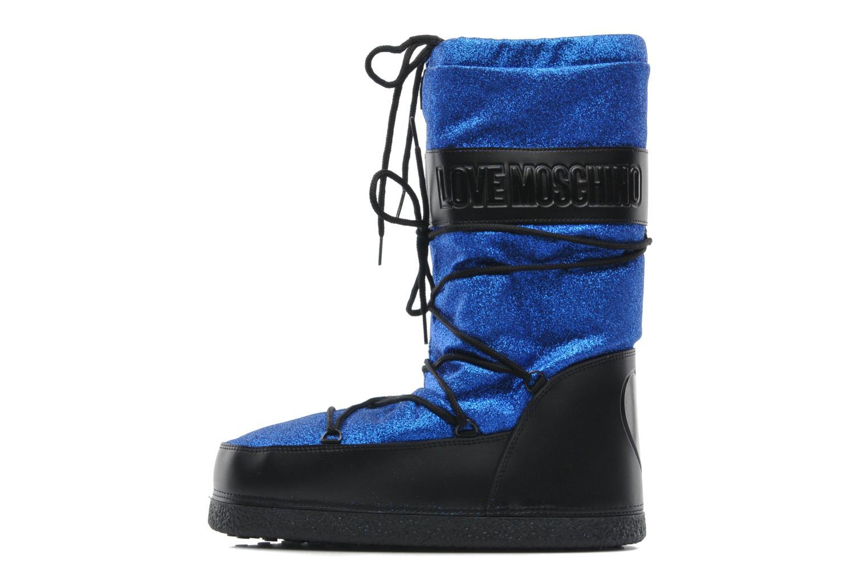 Bottines et boots Love Moschino Love boot Bleu vue face