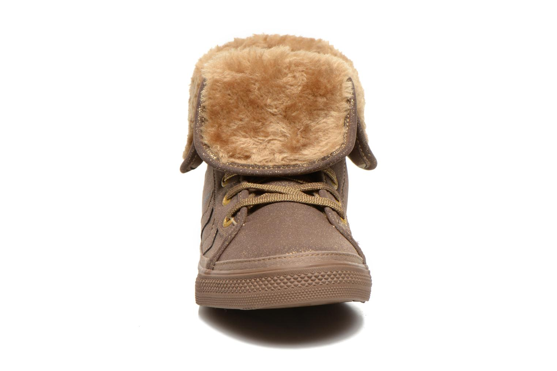 Baskets Hummel Freetime Jr Marron vue portées chaussures