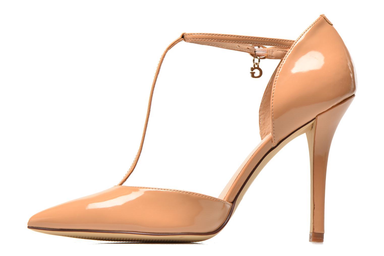 Zapatos de tacón Guess Teren Beige vista de frente