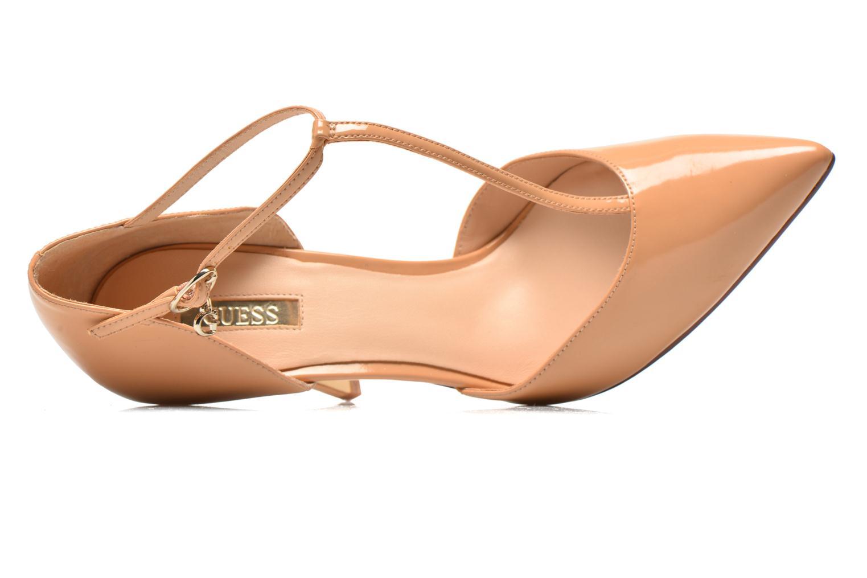 Zapatos de tacón Guess Teren Beige vista lateral izquierda