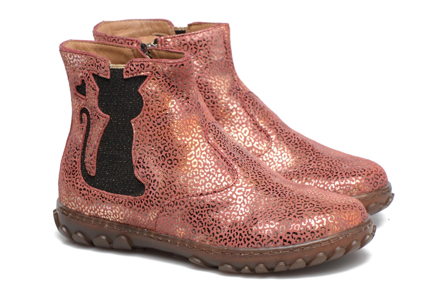 Ankle boots Pom d Api CUTE BOOTS CAT Pink 3/4 view