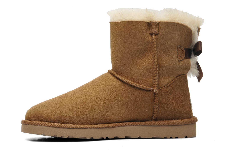 Bottines et boots UGG Mini Bailey Bow Marron vue face