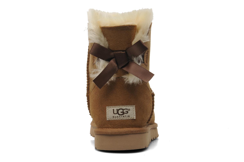 Bottines et boots UGG Mini Bailey Bow Marron vue droite