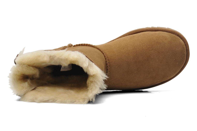 Bottines et boots UGG Mini Bailey Bow Marron vue gauche