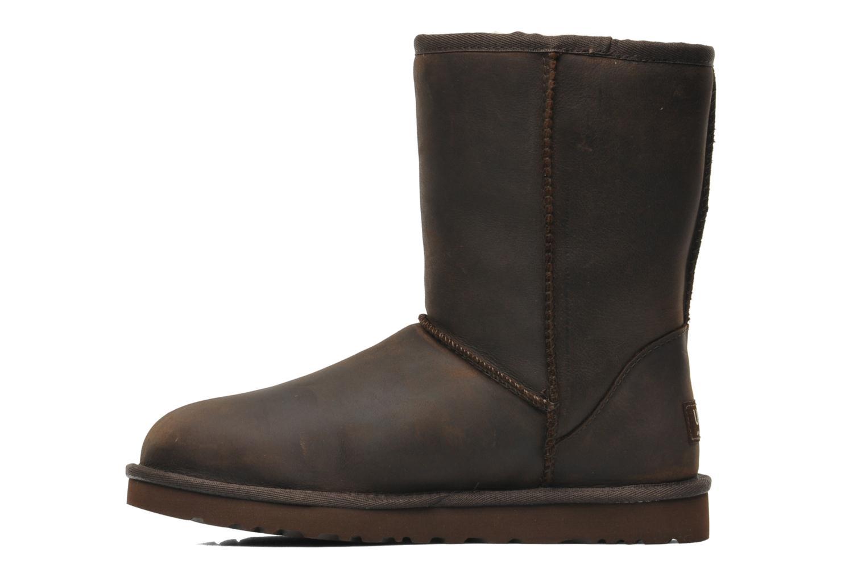 Bottines et boots UGG Classic Short Leather Marron vue face