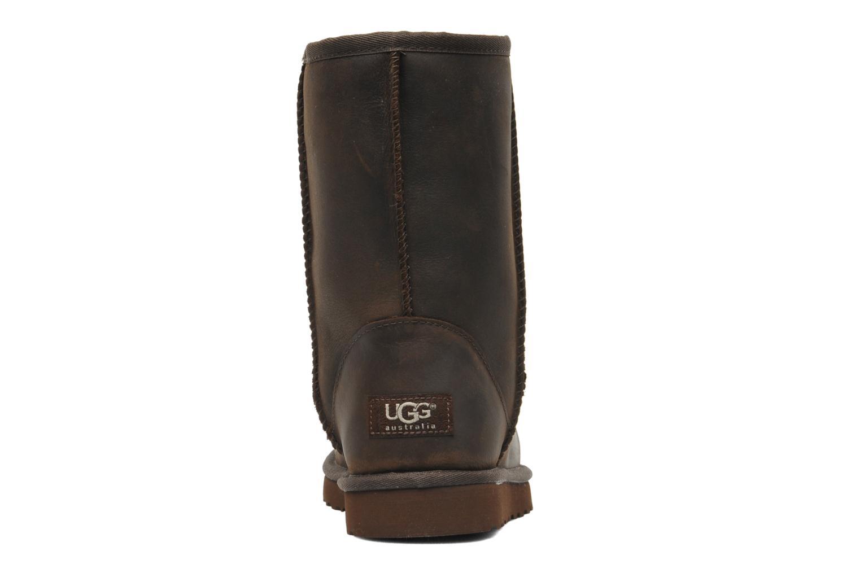 Bottines et boots UGG Classic Short Leather Marron vue droite