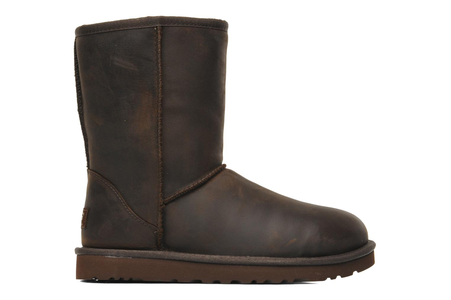 Ankle boots UGG Classic Short Leather Brown back view