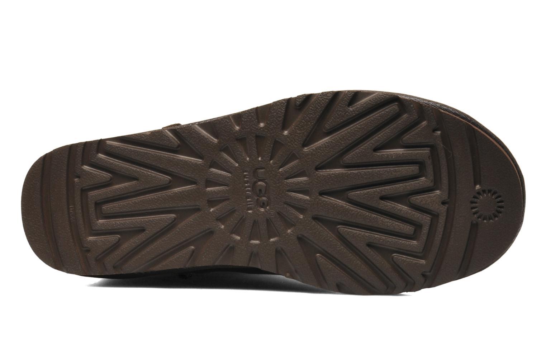 Stivaletti e tronchetti UGG Classic Short Leather Marrone immagine dall'alto