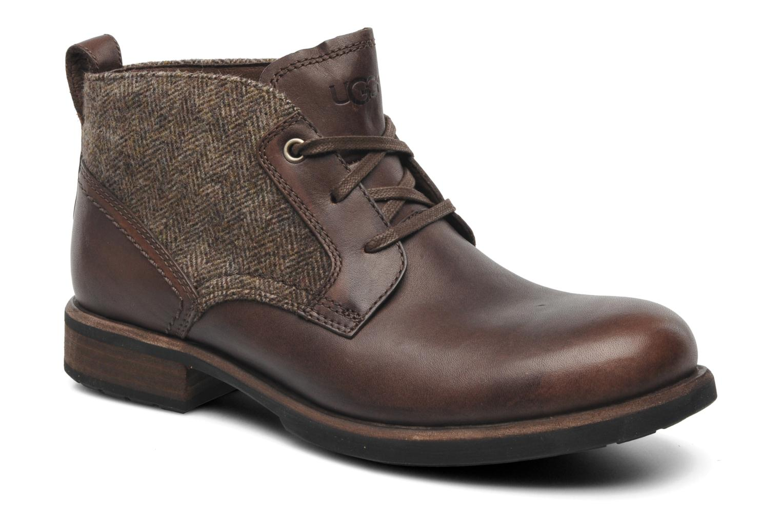 Lace-up shoes UGG Brompton Tweed Brown detailed view/ Pair view