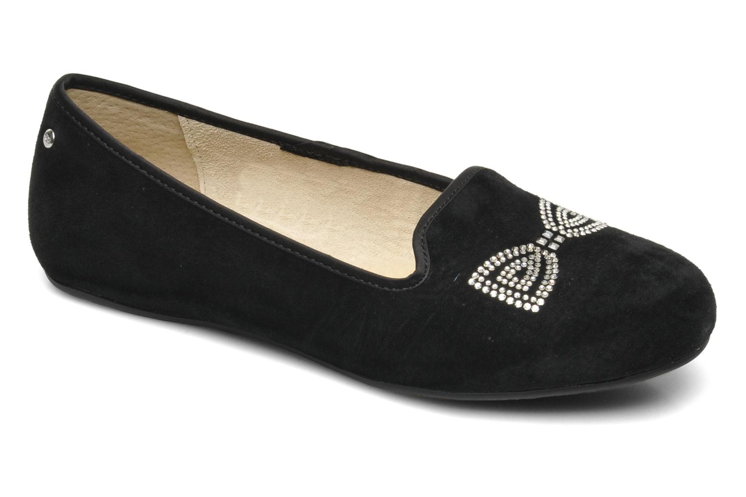 Chaussons UGG Alloway Crystal Bow Noir vue détail/paire