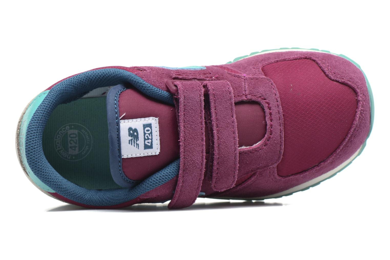 Sneaker New Balance KE420 M lila ansicht von links