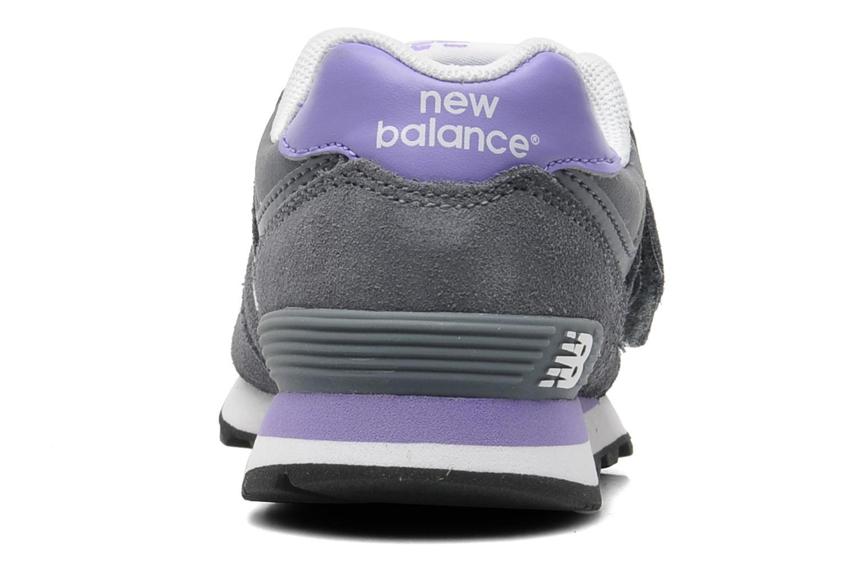 Baskets New Balance KG574 Gris vue droite