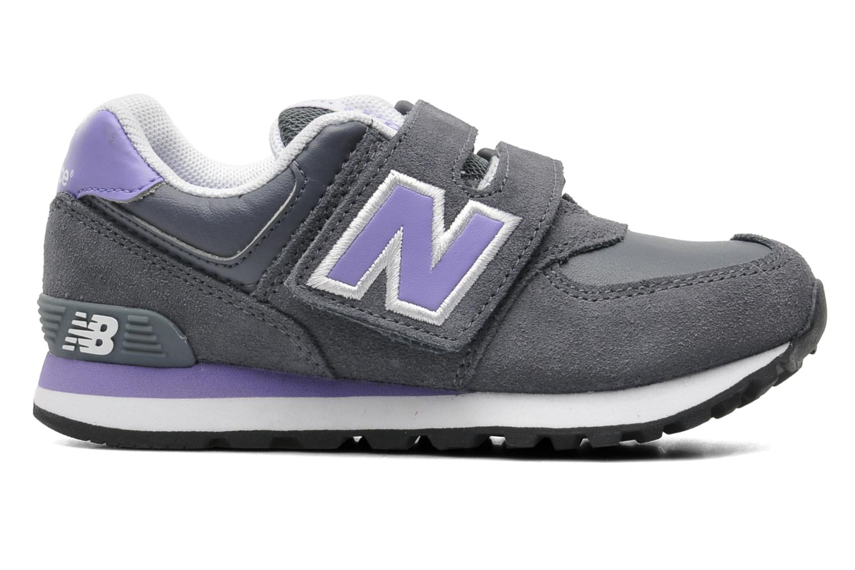 Sneaker New Balance KG574 grau ansicht von hinten