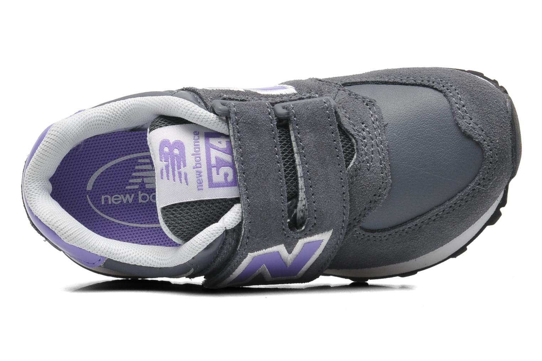 Sneaker New Balance KG574 grau ansicht von links