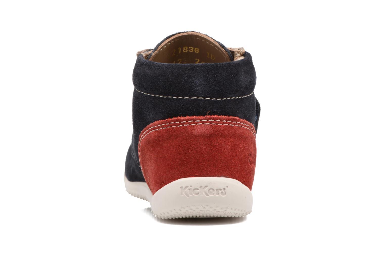 Schoenen met klitteband Kickers Bono Blauw rechts