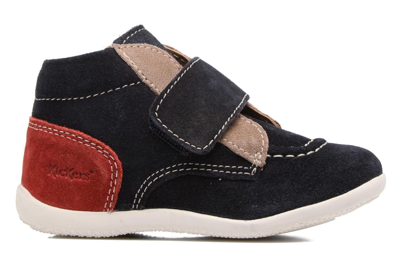 Schoenen met klitteband Kickers Bono Blauw achterkant