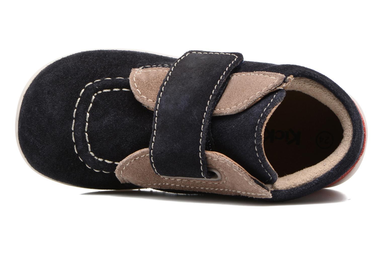 Schoenen met klitteband Kickers Bono Blauw links