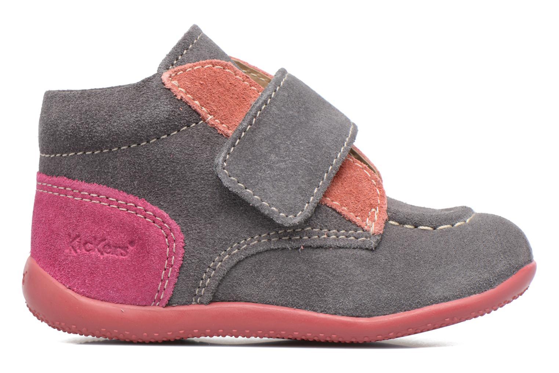 Zapatos con velcro Kickers Bono Gris vistra trasera