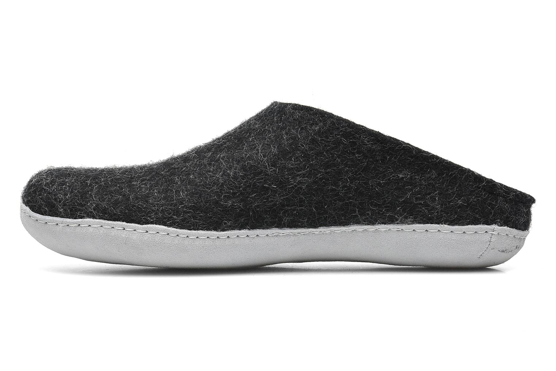 Pantoffels Glerups Piras M Zwart voorkant