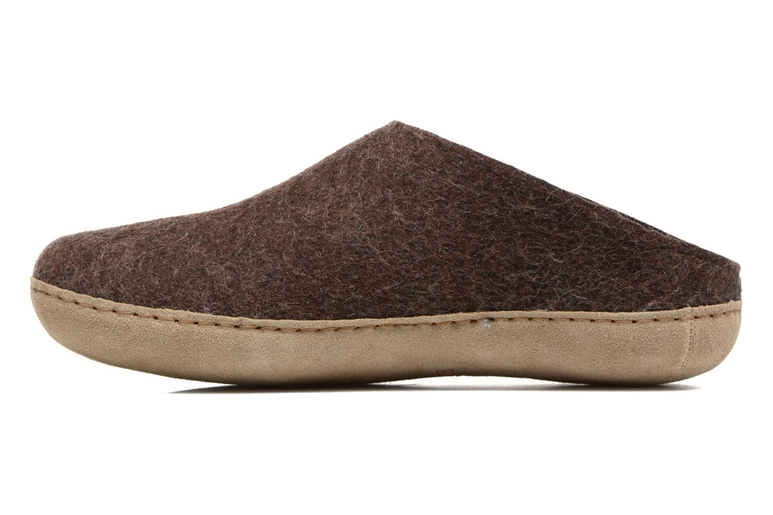Chaussons Glerups Piras M Marron vue face