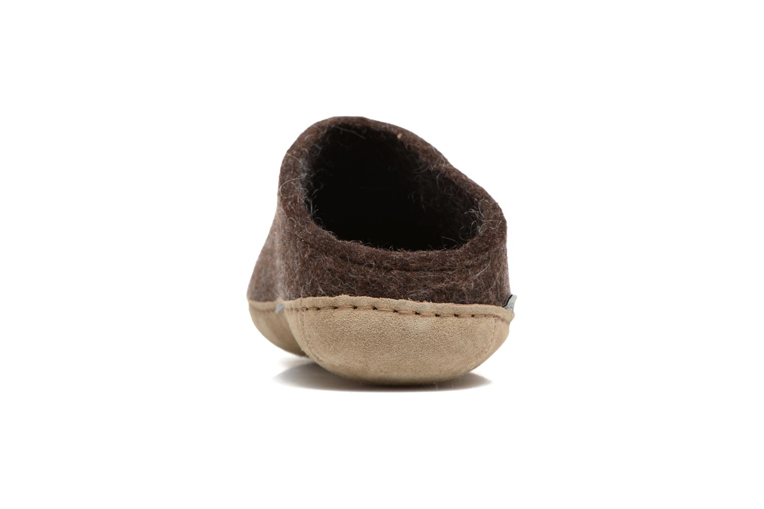 Slippers Glerups Piras M Brown view from the right