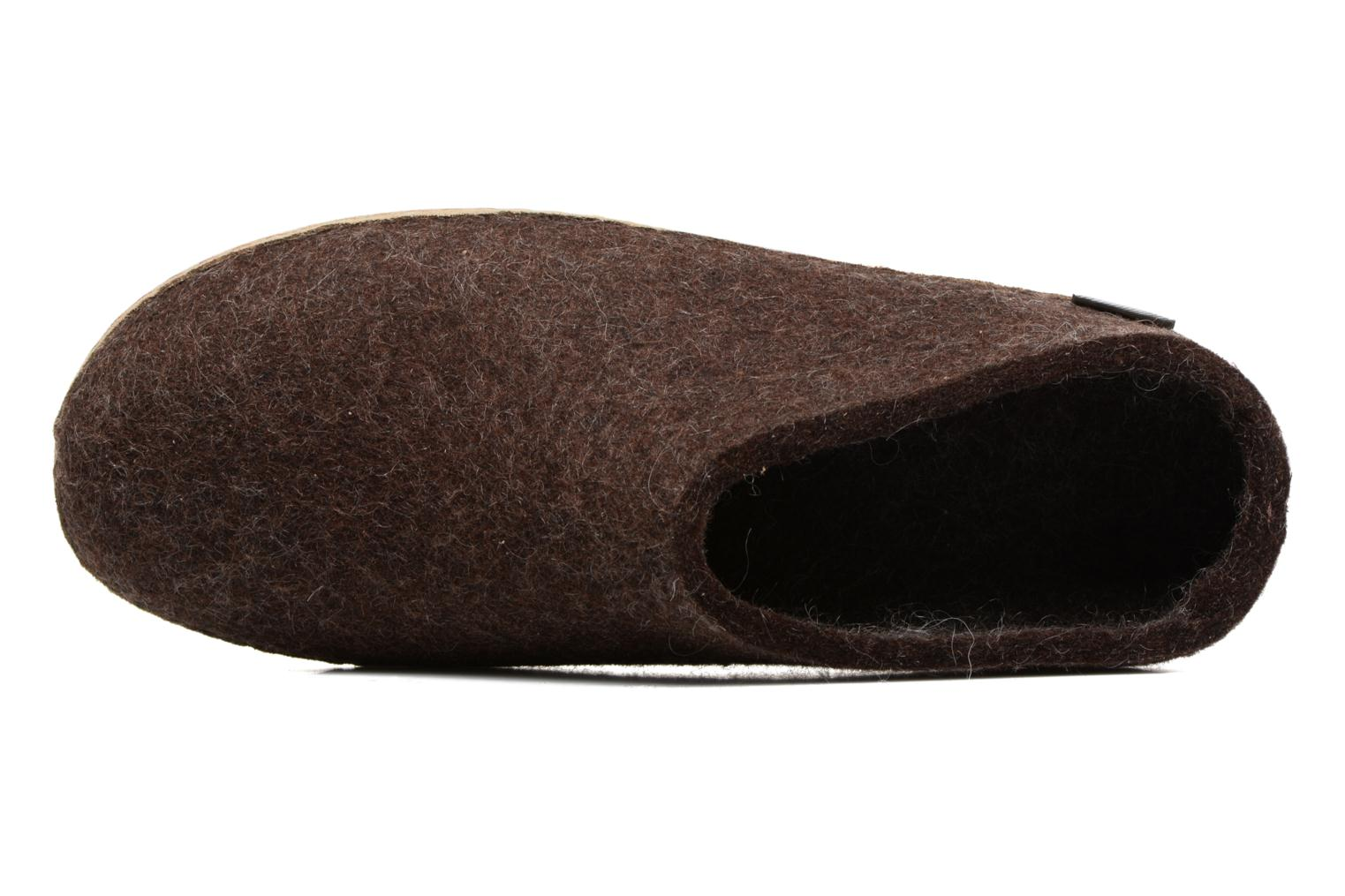 Slippers Glerups Piras M Brown view from the left