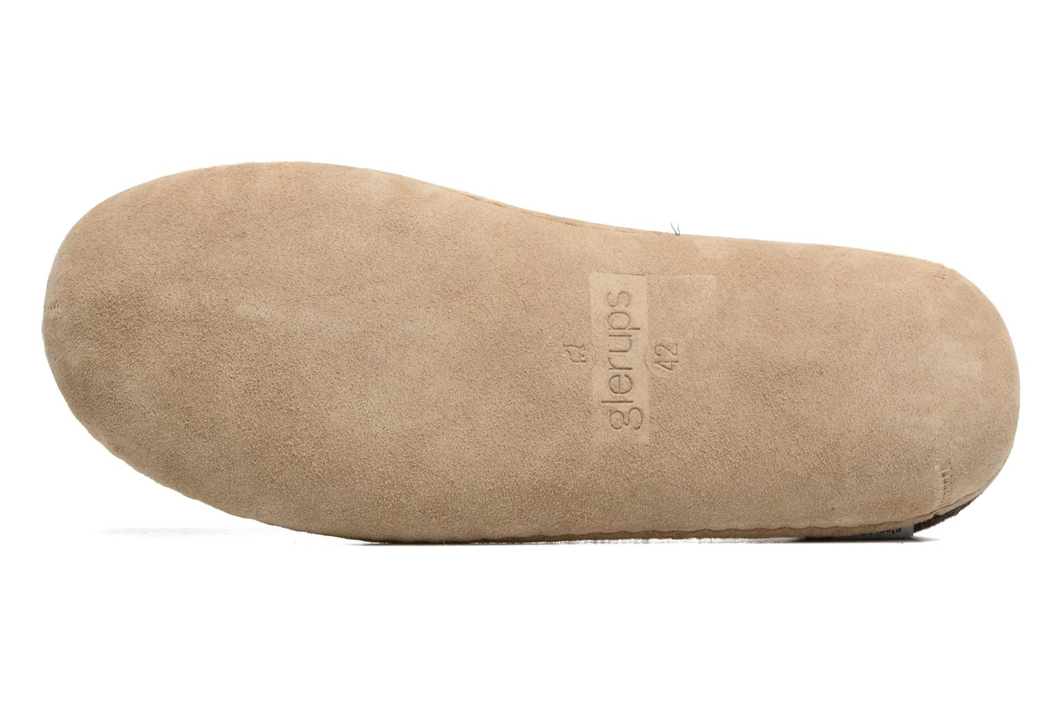Slippers Glerups Piras M Brown view from above