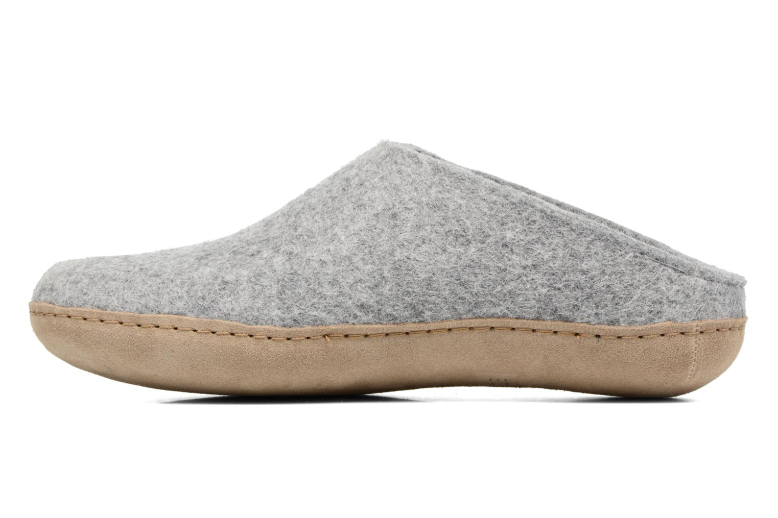 Slippers Glerups Piras M Grey front view