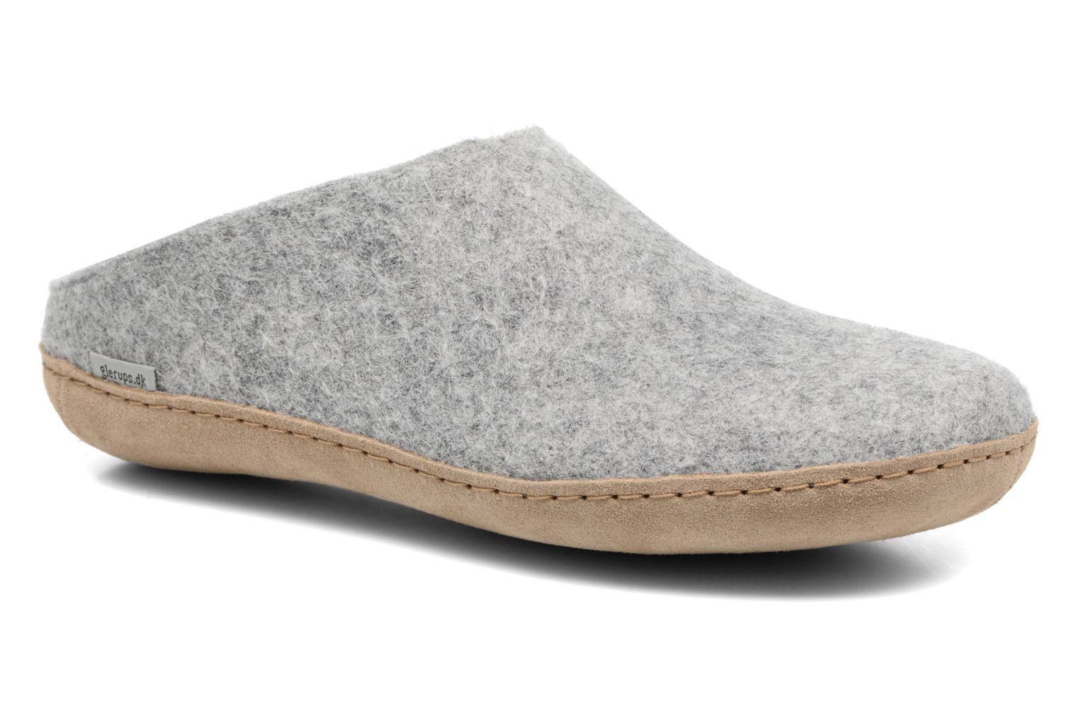 Slippers Glerups Piras M Grey detailed view/ Pair view
