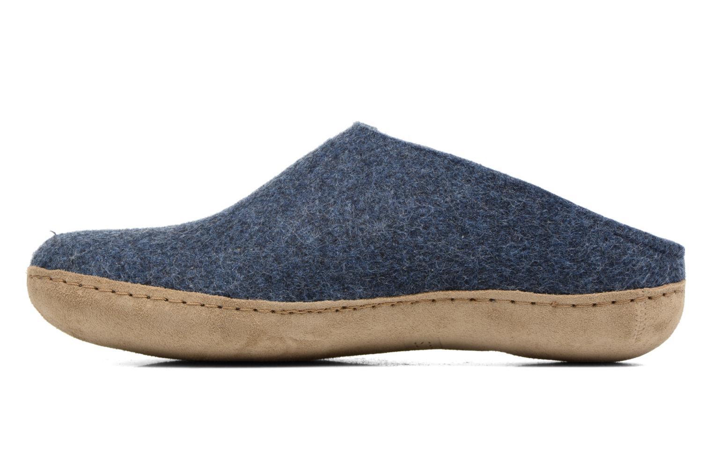 Slippers Glerups Piras M Blue front view