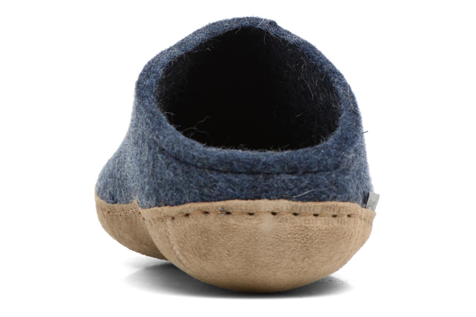Slippers Glerups Piras M Blue view from the right