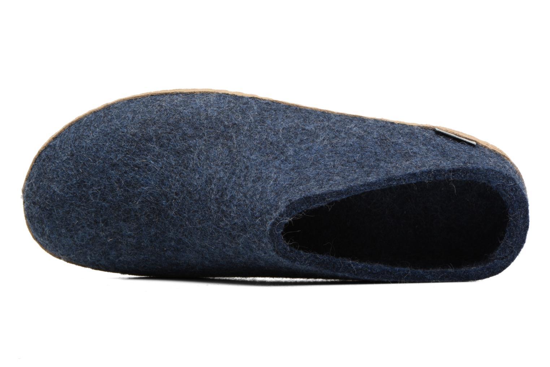 Pantuflas Glerups Piras M Azul vista lateral izquierda