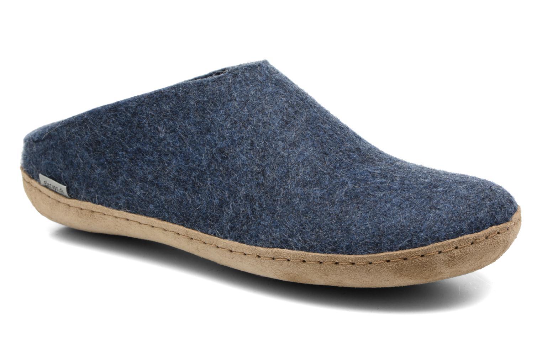 Pantoffels Glerups Piras M Blauw detail