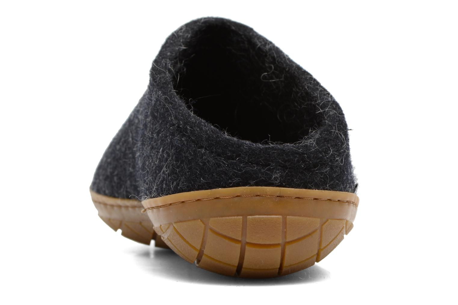 Slippers Glerups Piras Gomme M Black view from the right