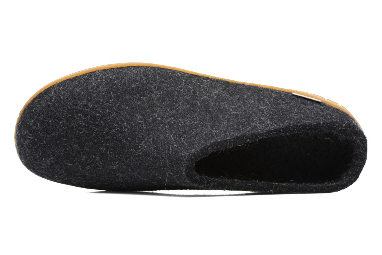 Pantoffels Glerups Piras Gomme M Zwart links