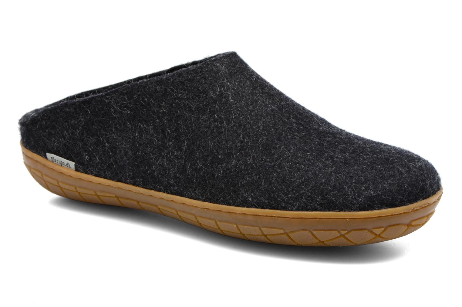 Slippers Glerups Piras Gomme M Black detailed view/ Pair view