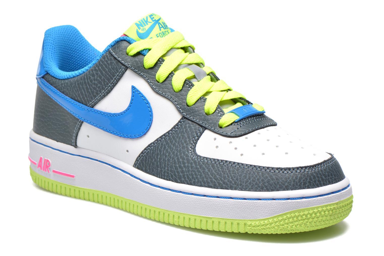Baskets Nike Air Force 1 (Gs) Bleu vue détail/paire