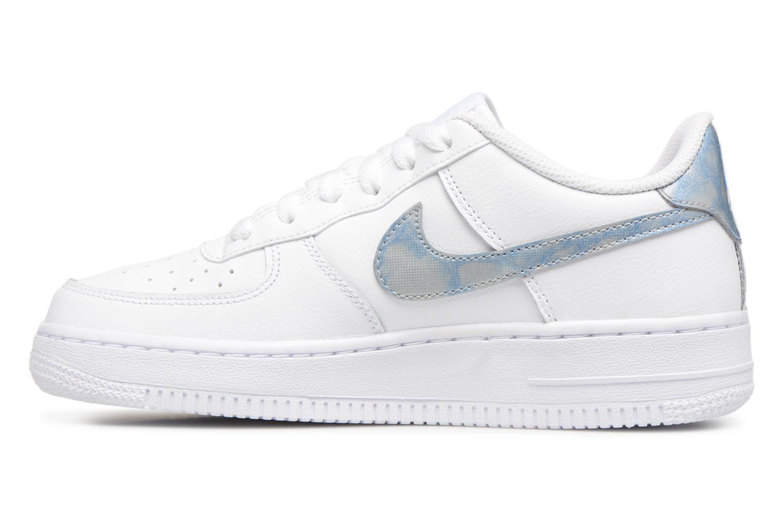 Sneaker Nike Air Force 1 (Gs) weiß ansicht von vorne