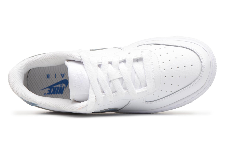 Sneaker Nike Air Force 1 (Gs) weiß ansicht von links