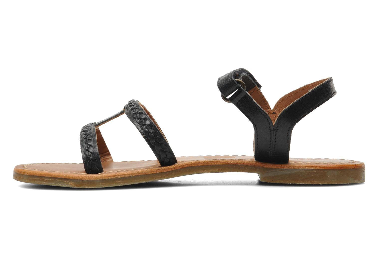 Sandales et nu-pieds Kickers Djerry V Noir vue face