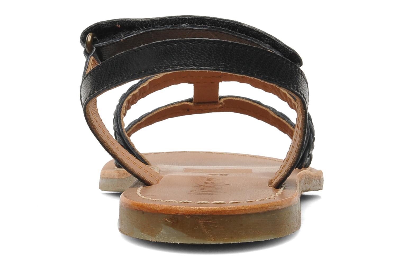 Sandales et nu-pieds Kickers Djerry V Noir vue droite