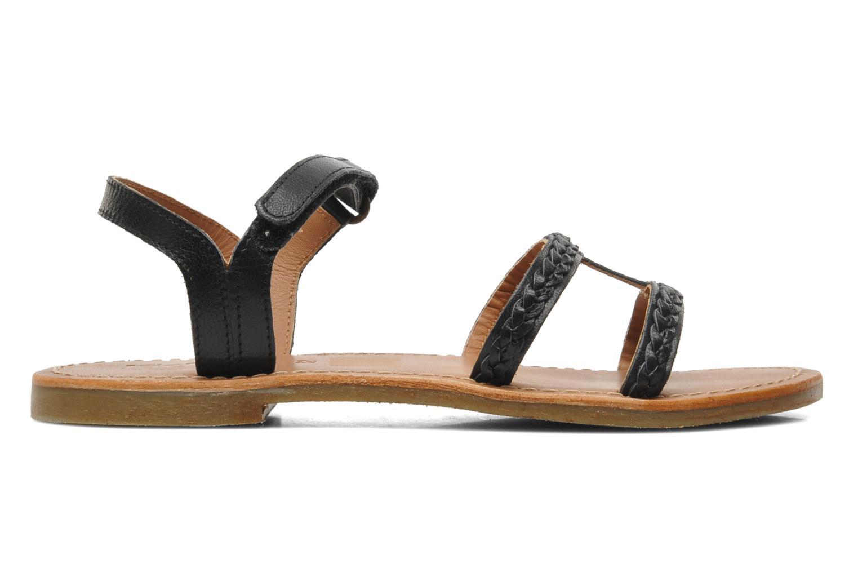 Sandales et nu-pieds Kickers Djerry V Noir vue derrière