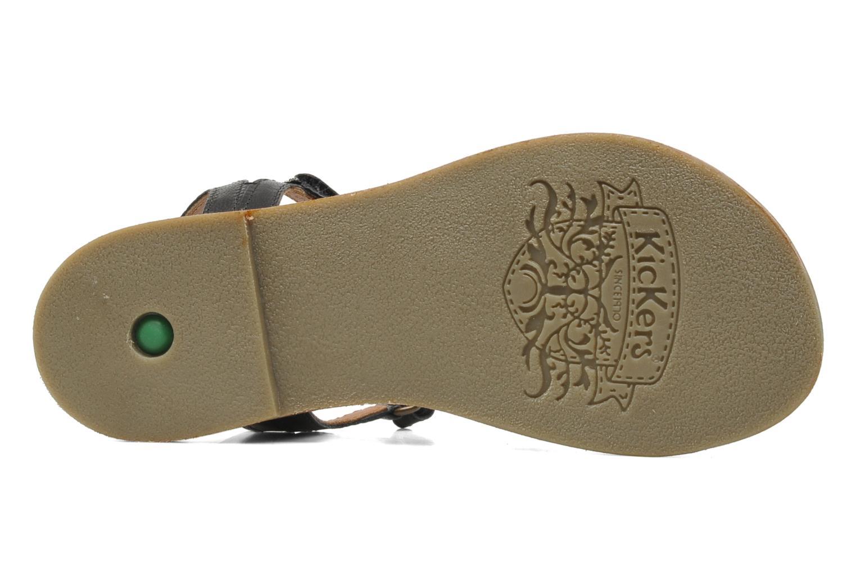 Sandales et nu-pieds Kickers Djerry V Noir vue haut